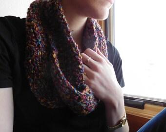 Crochet Infinity Scarf - Multi-colored & Cozy