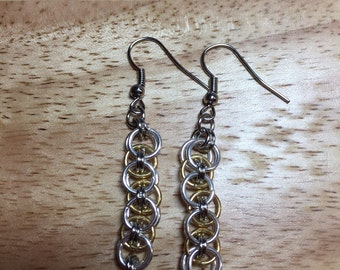 Handmade chain maille earrings