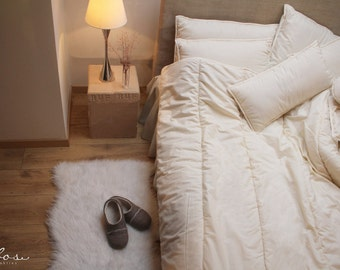 Twin Comforter Winter thickness, natural wool filled / extra warm wool duvet.