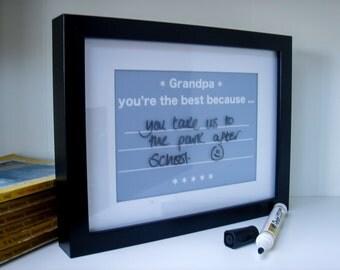 Grandad Write On Wipe Off Message Print | Gift for Grandad | Granpa | Notice board | wipe off