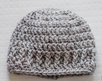 The Parker Crochet Newborn Hat Beanie PATTERN pdf instant digital download
