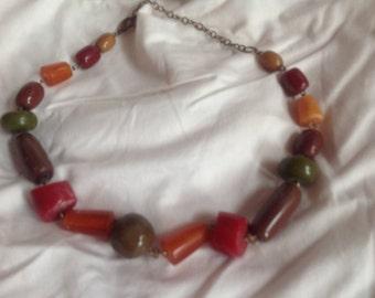 Multicolor vintage Bakelite necklace