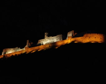 As a ship-instant download-a castle of Trentino in the night like a ship in the dark