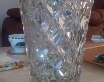 Art Deco lead crystal vase c.1920