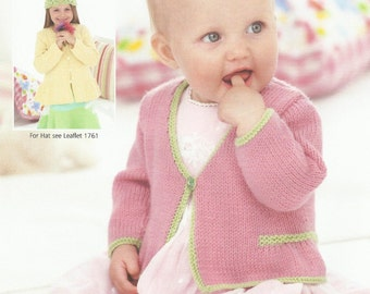 Baby Cardigan.0 -7 years. Knitting Pattern.
