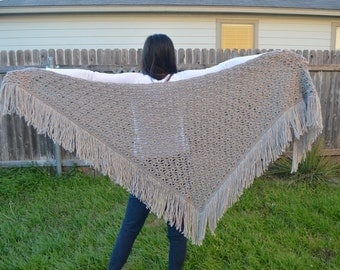 Hand Knitted Shawl/Wrap