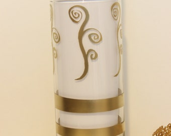 Contemporary glass vase,Candle holder,Painted vase