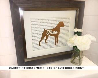 Personalized 8x10 Pet or Boxer Foil Print