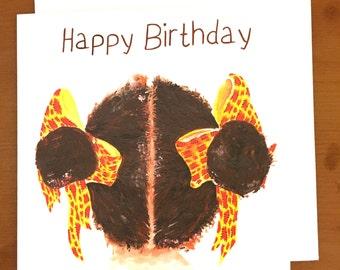 Birthday bun   birthday card, for her birthday, greeting cards