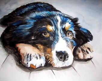dog illustration Watercolour