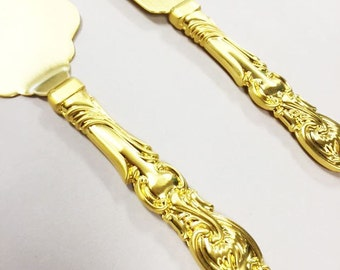 Vintage Style Gold Engraved Wedding Cake Server Set (MIC6020-55WS)