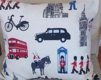 """London scene cushion cover 20"""" X 15"""""""