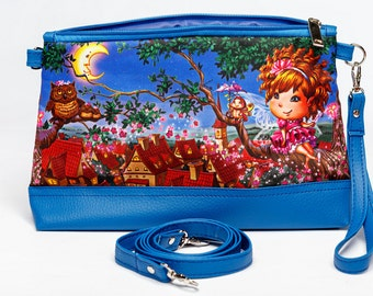 Kids Cosmetic Bag, Kids Pencil Pouch, Kids Brush Case, Kids Jewelry Case, Kids Makeup Case, Kids Zippered Pouch, 8069