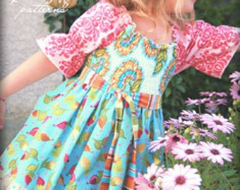 Pink Fig - Mia Top - Paper Sewing Pattern for Girl's Elasticized Top