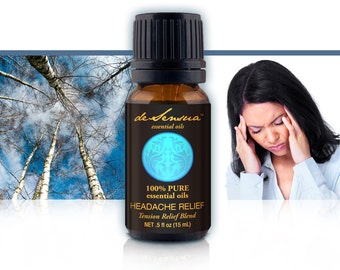 HEADACHE RELIEF Essential Oil Blend  – 100% Pure  - Think Clearly, Smile, and Enjoy Your Day Once More!
