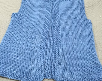 Ladies Blue Knitted Vest