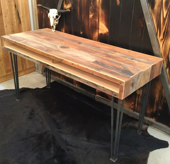 reclaimed barnwood desk