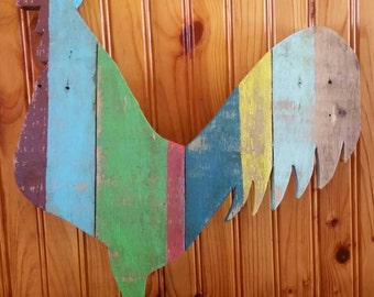 Wood rooster cut out