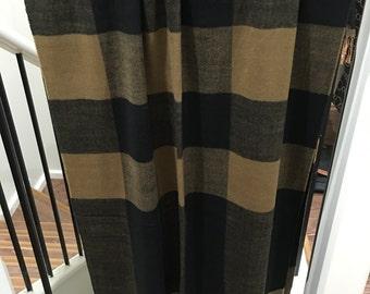 Cashmere Feel Plaid Shawl Brown/Black