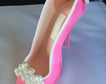 Gumpaste/ fondant  sugar shoe/heel cake topper decoration
