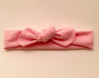 Pink Top Knot Headband // Newborn Headband // Toddler Headband // Adult Headband