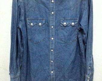 Vintage Rockmount snap button shirt