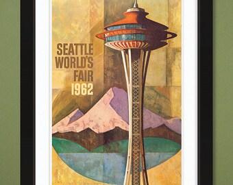 Seattle World's Fair 1962 (12x18 Heavyweight Art Print)