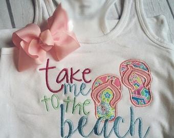 take me to the beach shirt, beach trip shirt, flip flop shirt, summer shirt