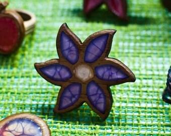 Handmade wooden ring flower