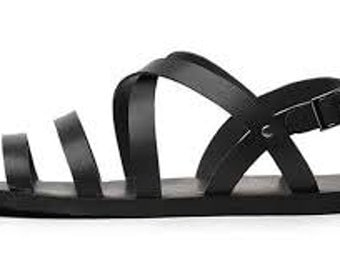 Women ankle strap leather sandals