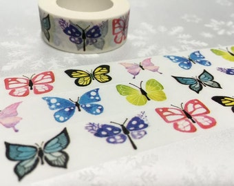 Butterfly washi tape 10M dancing butterfly Paradise butterfly colorful butterfly masking tape butterfly collection sticker tape gift decor
