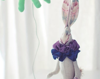 Ooak hand made art doll, soft toy, decoration.