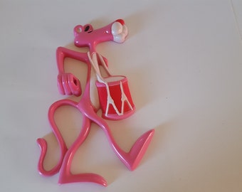 Pink Panther tooth brush holder