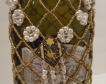 Beaded Wine Bottle cover