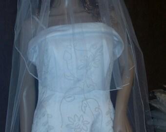 2 Layer White Wedding Veil