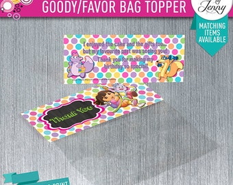 DORA the EXPLORER Party Favor/goody bag topper - Digial download
