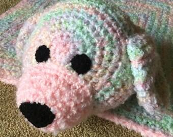 Crocheted Baby Puppy Blanket