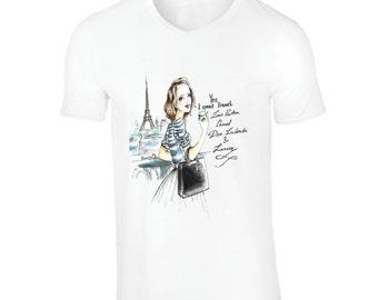 Paris, Yes I Speak French Shirt, V-Neck T Shirt