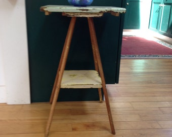 Repurposed side table