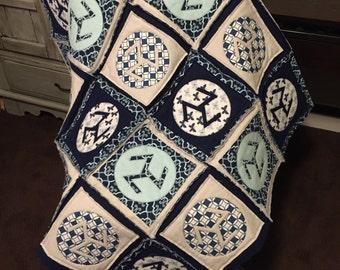 Reiki Quilt, Antahkarana Symbol, Rag Quilt Style