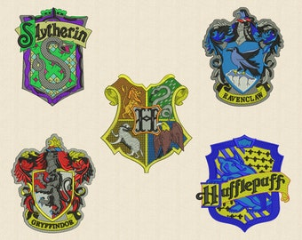 5 Harry Potter Emblems Embroidery Design 4 sizes