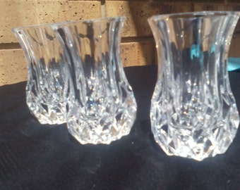 Three perfect matching thistle vases