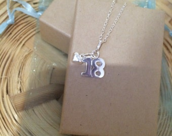 18th Birthday Charm Necklace