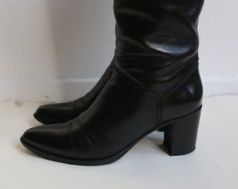 Sartore Paris 100% leather high heel boots. Size 39.New Price 890.Made in Italy