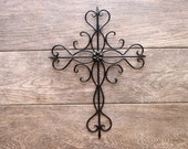 Metal Wall Cross/ Metal Cross/ Cross Wall Decor/ Cross Decor/ Housewarming Gift/ Garden Cross Decor/ Cross Wall Hanging/ Crucifix
