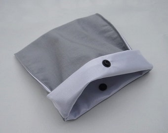Bag sandwich and snack - large - grey - reusable - Zero waste