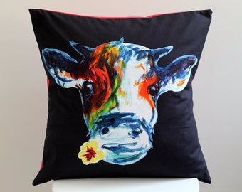 Cow Cushion Cover