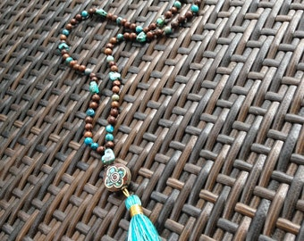 Handmade one of a kind Turquoise Nugget Necklace