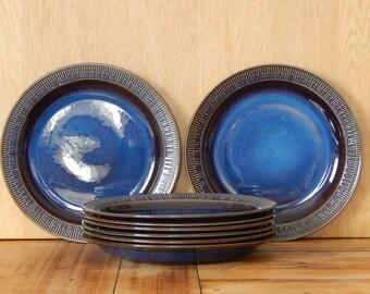 Scandinavian Vintage Gefle Kosmos Plate Ceramic Dinner Plate Berit Ternell 1966 -67