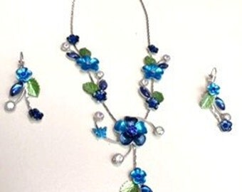 Spring Sale, Necklace with Earring Set